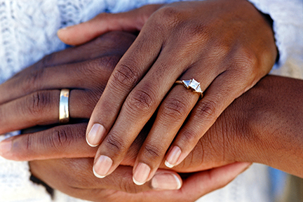 photo of a married couple's hands