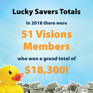 lucky savers annual total