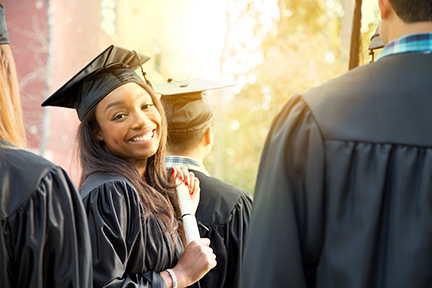 photo of an african american woman graduate
