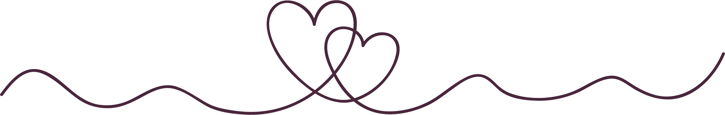 line art of two hearts