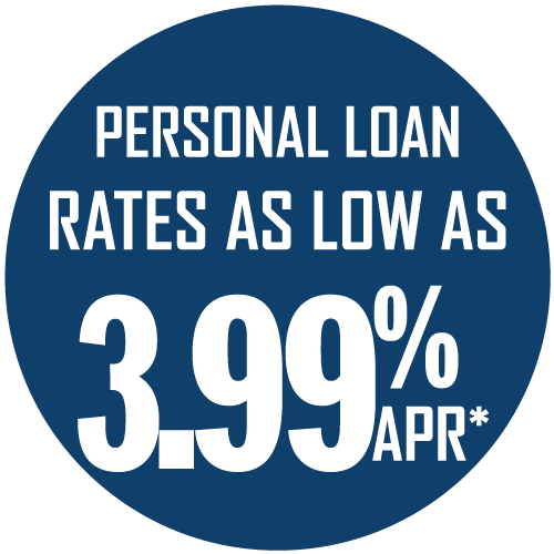 Personal loan rates as low as 3.99% APR*